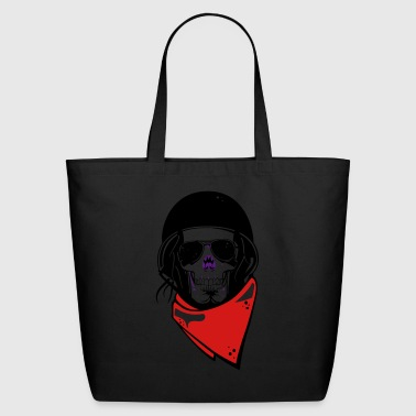helmet motor skull - Eco-Friendly Cotton Tote