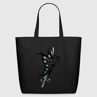 Big filigree butterfly, wings, girlie Tattoo style - Eco-Friendly Cotton Tote