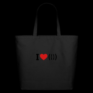 I LOVE PUSSY - ASCII - Eco-Friendly Cotton Tote