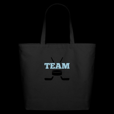 puck team ice hockey - Eco-Friendly Cotton Tote