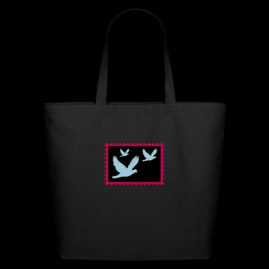 flying doves on a stamp - Eco-Friendly Cotton Tote