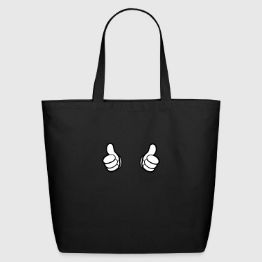 Cartoon Hands, Thumbs - T-Shirt - pointing - Eco-Friendly Cotton Tote