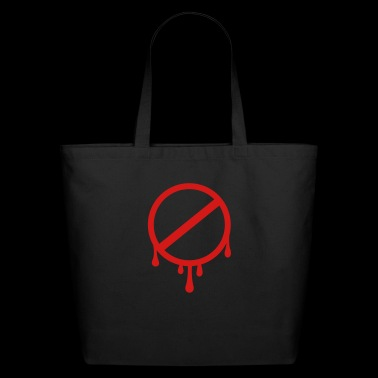 prohibition sign - forbidden - Eco-Friendly Cotton Tote