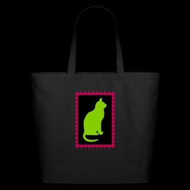stamp with a cat - Eco-Friendly Cotton Tote