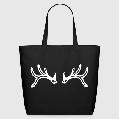 Reindeer antler, filigree silhouette. - Eco-Friendly Cotton Tote