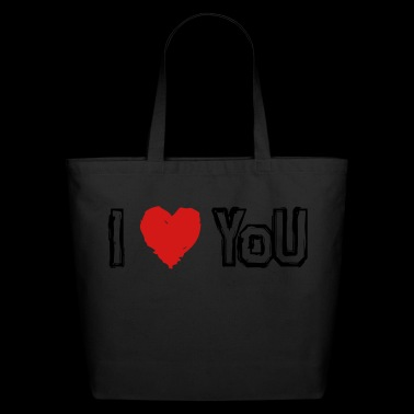I LOVE U! - Eco-Friendly Cotton Tote