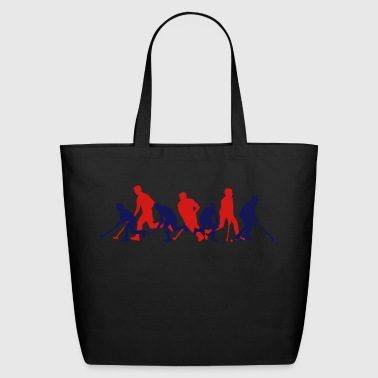 Field Hockey Players - team crowd - Eco-Friendly Cotton Tote