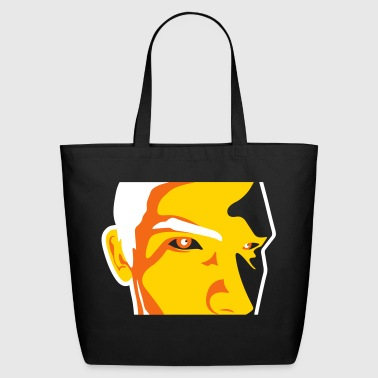 Face Of A Man Spying - Eco-Friendly Cotton Tote