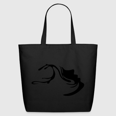 Mindspring face in black - Eco-Friendly Cotton Tote