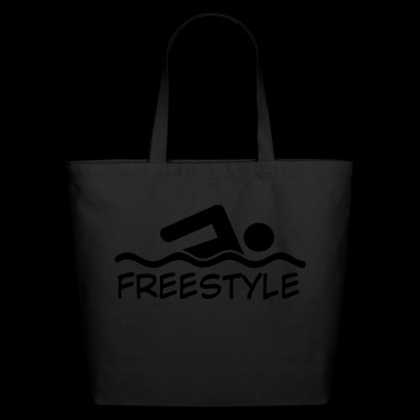 freestyle swimming - Eco-Friendly Cotton Tote