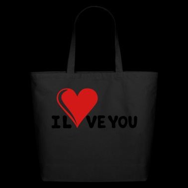 I LOVE YOU - Romance - Valentine's Day - Heart - Eco-Friendly Cotton Tote