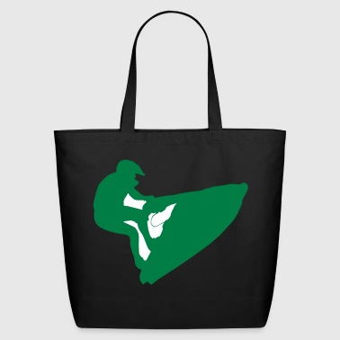 water sport silhouette - Eco-Friendly Cotton Tote