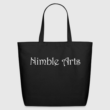 Nimble Arts LOGO white - Eco-Friendly Cotton Tote