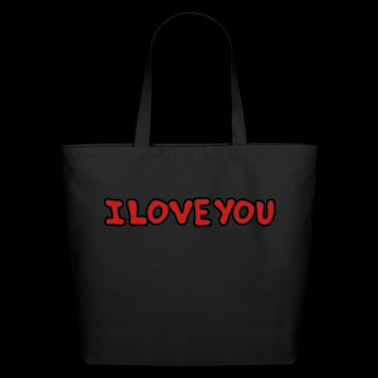 I LOVE YOU - St Valentine's Day - Gift - Eco-Friendly Cotton Tote