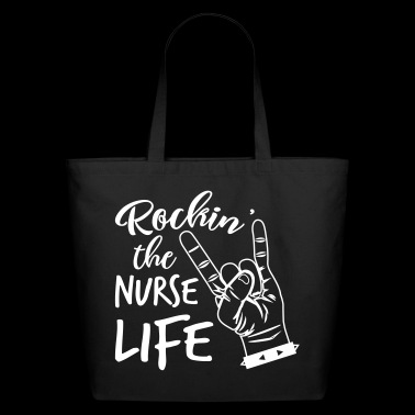 Rockin' The Nurse Life - Eco-Friendly Cotton Tote