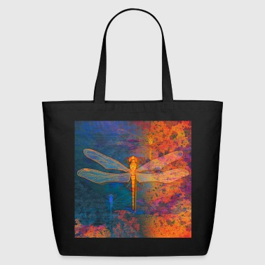 Flaming Dragonfly - Eco-Friendly Cotton Tote