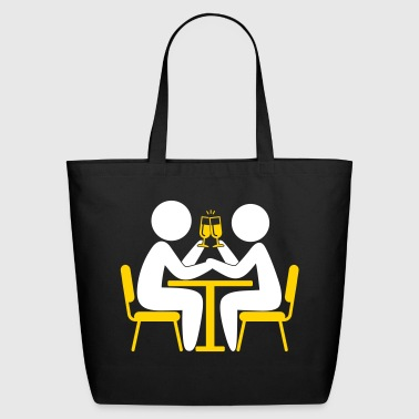 Valentine's Day Couple Celebrating - Eco-Friendly Cotton Tote