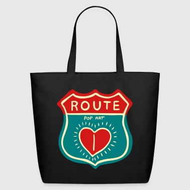 Route Pop Art Design - Eco-Friendly Cotton Tote