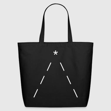 ASCII minimal christmas tree - Eco-Friendly Cotton Tote