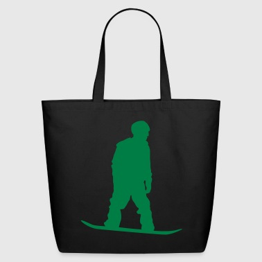 snow boarder silhouette 8 - Eco-Friendly Cotton Tote