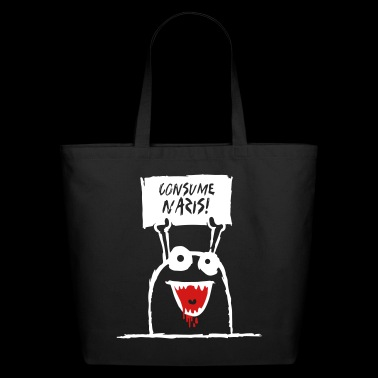 Consume Nazis! Cute Monster Protest - Eco-Friendly Cotton Tote