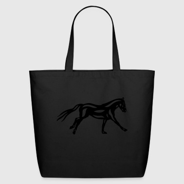 Abstract horse Clementine - Eco-Friendly Cotton Tote