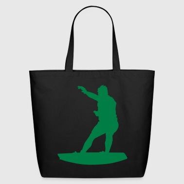 water sport silhouette 4 - Eco-Friendly Cotton Tote