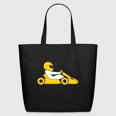 A Racer With Helmet And Car - Eco-Friendly Cotton Tote