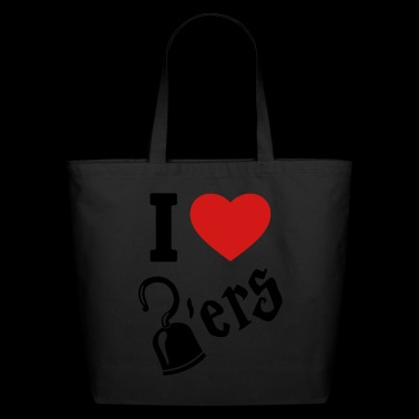 I Love Hookers - Pirate hook - Eco-Friendly Cotton Tote