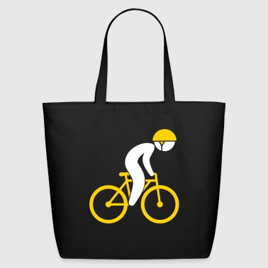 A Racing Cyclist On His Bike - Eco-Friendly Cotton Tote