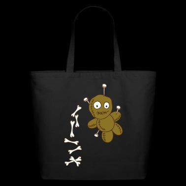Voodoo doll with bones - Eco-Friendly Cotton Tote