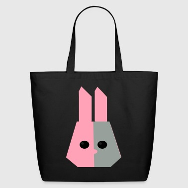 stylized rabbit head as a gift idea for nerds - Eco-Friendly Cotton Tote
