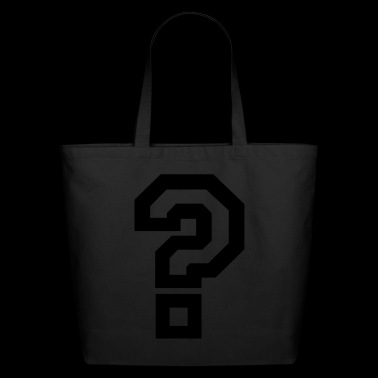 question mark - Eco-Friendly Cotton Tote