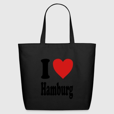 I love Hamburg (variable colors!) - Eco-Friendly Cotton Tote