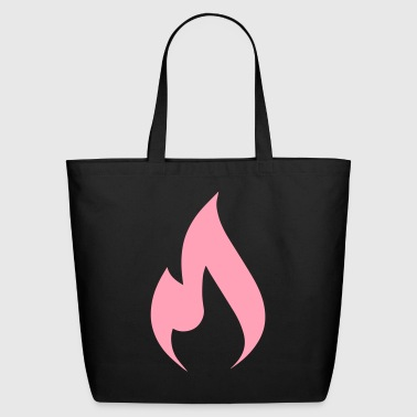 rock hard rebellion flame - Eco-Friendly Cotton Tote