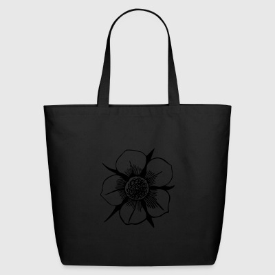 Flower Illustration - Eco-Friendly Cotton Tote