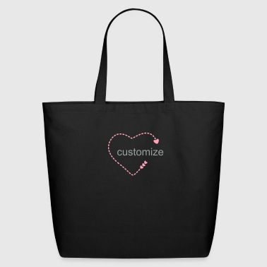 open dashed heart (1c) - Eco-Friendly Cotton Tote