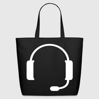 Headset silhouette - Eco-Friendly Cotton Tote