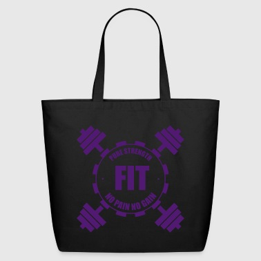 Weights. Lifting. Gym. Strength - Eco-Friendly Cotton Tote