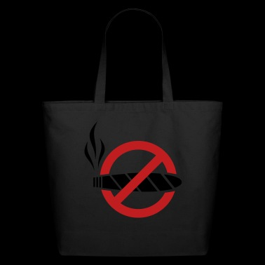 No smoking - cigar - Eco-Friendly Cotton Tote