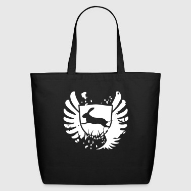 Glam Rabbit bunny bunnies hare glam rock sign - Eco-Friendly Cotton Tote