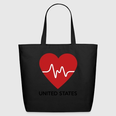 Heart United States of America - Eco-Friendly Cotton Tote