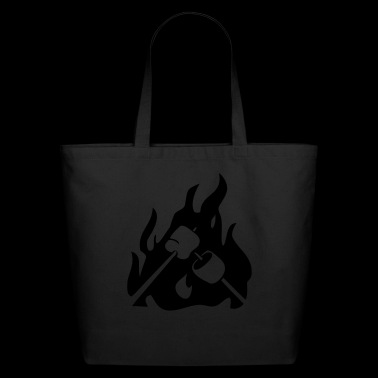 Marshmallow on campfire - Eco-Friendly Cotton Tote
