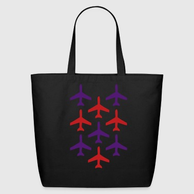 top gun planes in formation - Eco-Friendly Cotton Tote