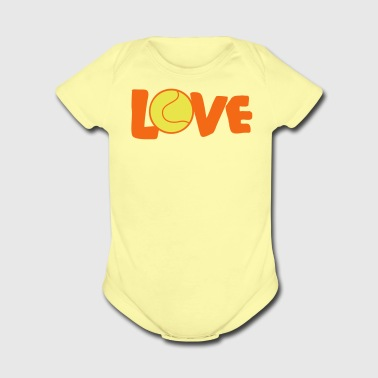 I LOVE TENNIS - Short Sleeve Baby Bodysuit