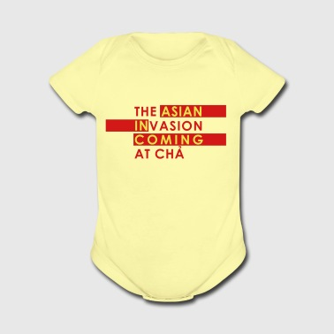 Asian Invasion Asian in Coming - Organic Short Sleeve Baby Bodysuit