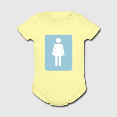 Women bathroom - Short Sleeve Baby Bodysuit
