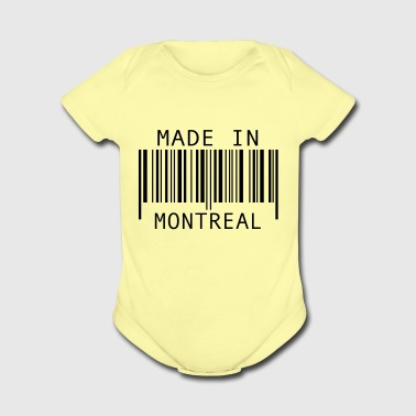 Made in Montreal - Organic Short Sleeve Baby Bodysuit