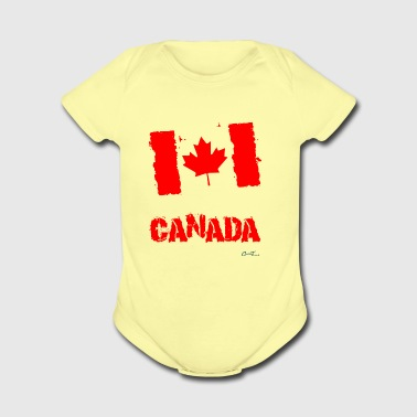 Canada Flag - Short Sleeve Baby Bodysuit