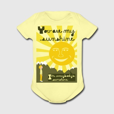 you are my sunshine - Short Sleeve Baby Bodysuit